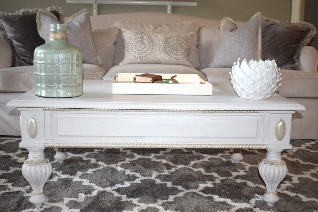 how much to paint living room diy floating shelves rehab old furniture using chalk coffee table decor in the totally transformed this piece and