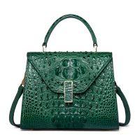 Designer Top Handle Crocodile Handbag Crossbody Bag ...