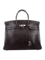 Crocodile Birkin 40 Bag Palladium Hardware By Hermès