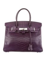 Crocodile Birkin 30 Bag Matte Porosus By Hermès