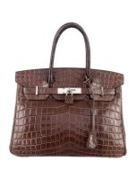 Crocodile Birkin 30 Bag Shiny Porosus By Hermès
