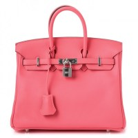 Birkin 25 Rose Pink Leather Swift Rose By Hermès