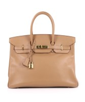 Birkin Bag 35 Swift Gold Hardware Pre Owned By Hermès