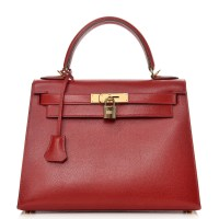 Kelly Bag 28 Hermes Epsom Sellier Rouge Garance