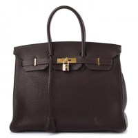 Birkin Bag 35 Hermès Togo Chocolate