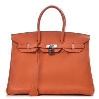Birkin Bag 35 Orange Hermes Togo
