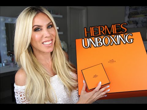 HERMES SHOPPING!  Unboxing the Garden Party and Collier de Chien