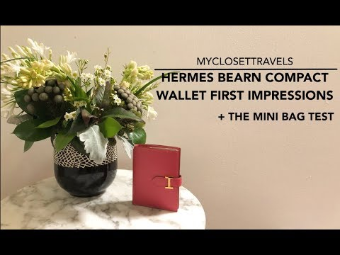 Hermes Bearn Compact Wallet First Impressions + The Mini Bag Test | myclosettravels