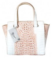 Authentic River Crocodile Skin Womens Hornback Tote Bag