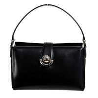 Salvatore Ferragamo Women Black Leather Handbag