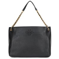 Tory Burch McGraw Chain Slouchy Tote Bag Black
