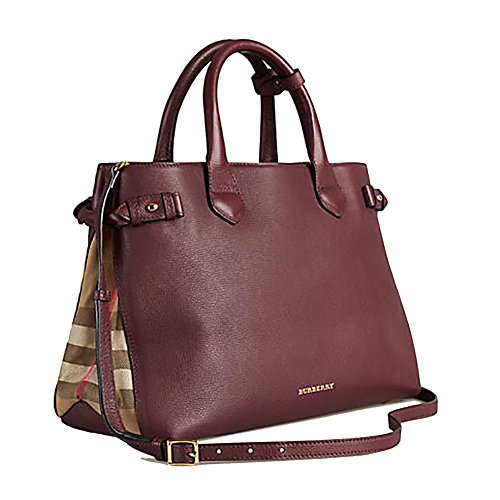 Tote Bag Handbag Authentic Burberry Leather