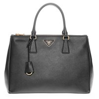 Prada Saffiano Lux Executive Tote Bag Black