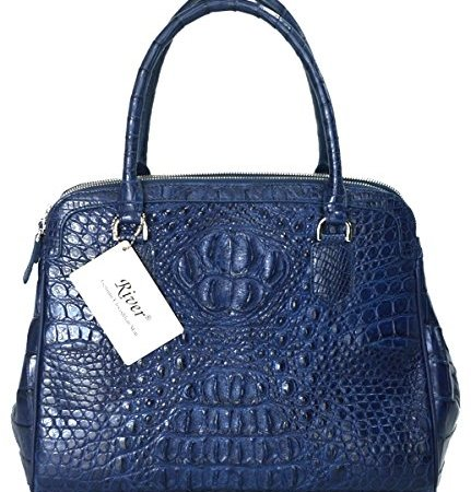 Crocodile Skin Hobo Strap Handbag