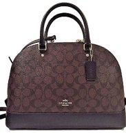 Coach Sierra Satchel Canvas handbag Brown Black