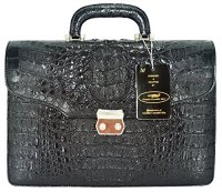 Authentic Crocodile Skin Briefcase Business Bag