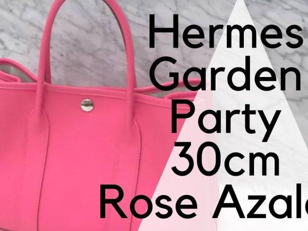 Hermes Garden Party 30 Rose Azalee Epsom