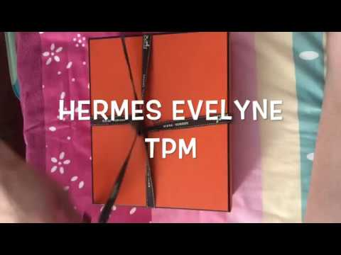 Unboxing Hermes Mini Evelyne