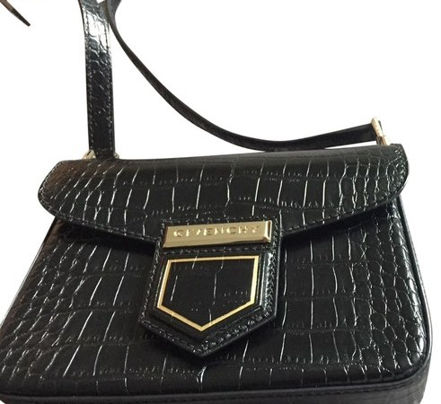 Givenchy Mini Crocodile bag Emboss Black Leather