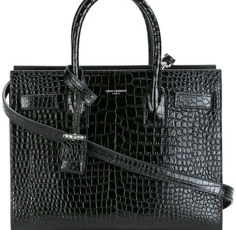 Saint Laurent Embossed Crocodile Bag