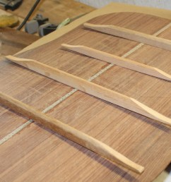 here are the four back braces the farthest and nearest are the homemade mahogany braces  [ 1152 x 698 Pixel ]