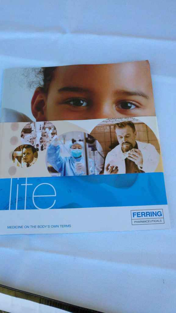 Ferring Pharmaceuticals.  Their motto is 'Medicine on the body's own terms'.  They work to create individualized treatments = less side effects.  My hope is in time this will be available to everyone at an affordable cost.  How cool would that be.