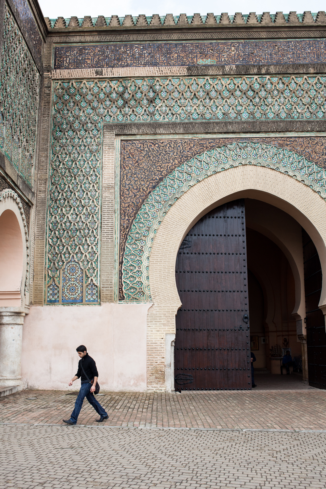 Outside the palace of Meknes