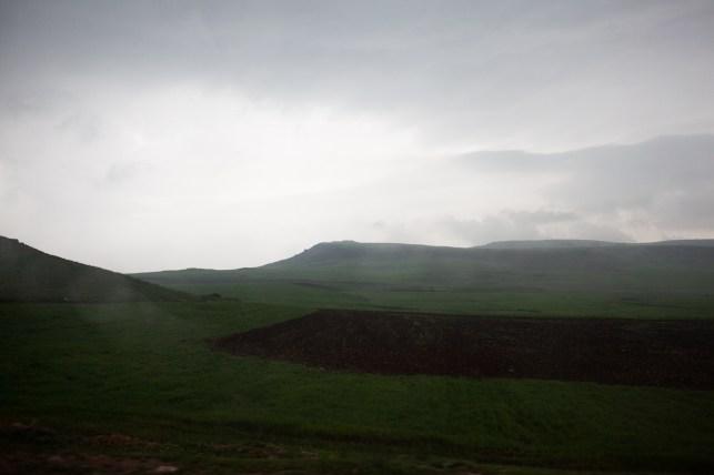 A sudden rainstorm.
