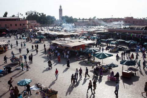 Jemaa el-Fnaa square from above