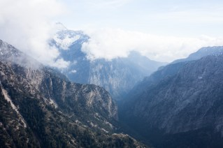 An overlook of the Samaria Gorge from Kallergi.