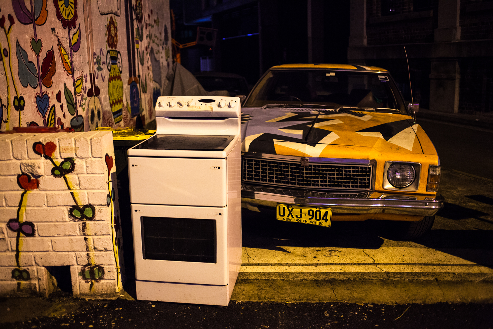 You could everything while walking around night Sydney