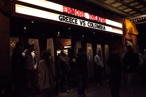 Two o'clock at night and the place was packed to watch Greece vs Colombia for the world cup.