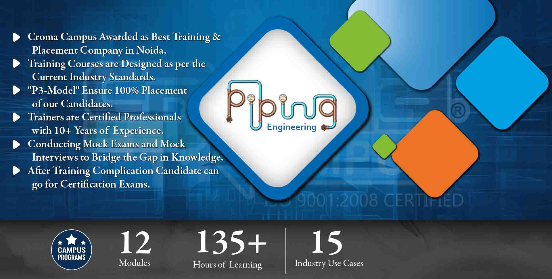 hight resolution of piping engineering training in noida croma campus