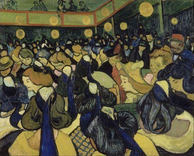 Vincent van Gogh La salle de danse a Arles, 1888