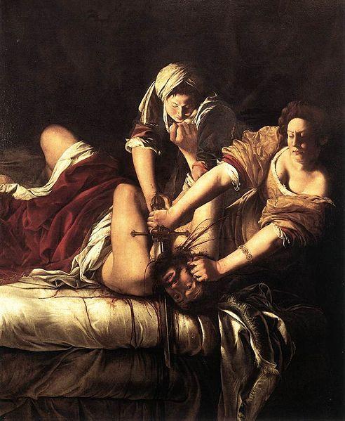 Artemisia Gentileschi. Judith decapitando a Holofernes. Galeria degli Uffizi