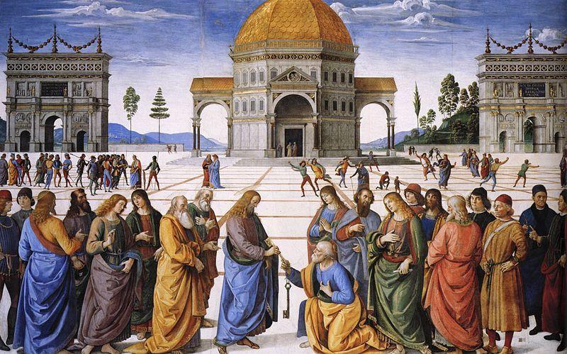 Entrega de las llaves a San Pedro, Pietro Perugino.