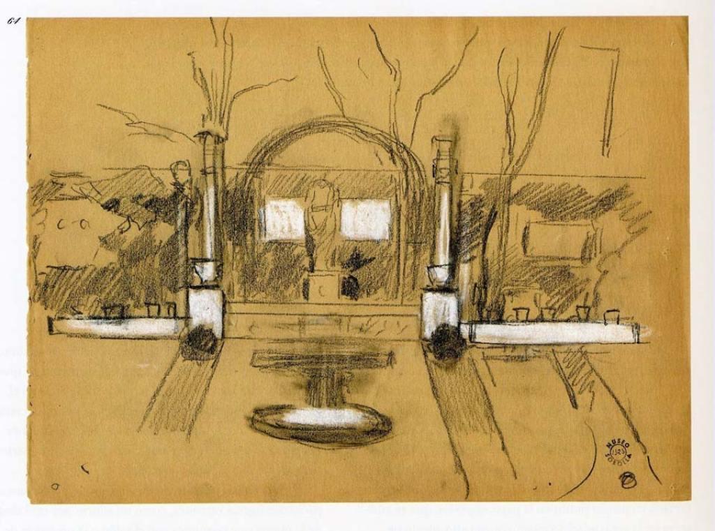 Joaquín Sorolla. Diseño para el segundo Jardín. 1910. Museo Sorolla