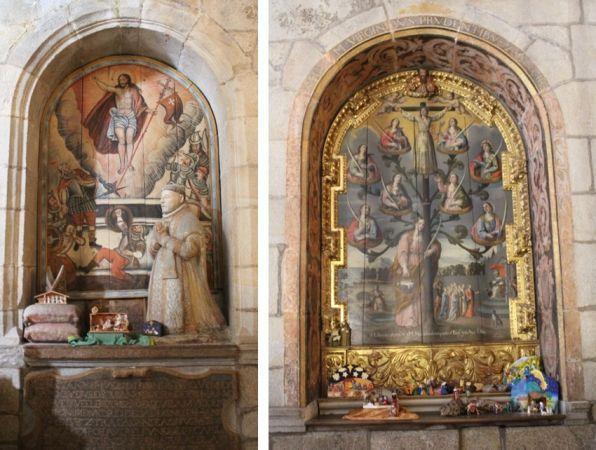 Izquierda: Enterramiento de Diego Torquemada. Derecha: Altar de Santa Liberata.