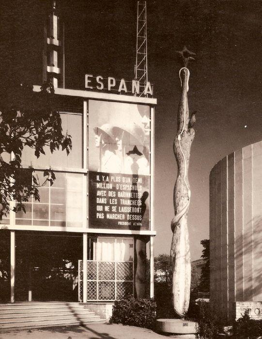 Entrada al Pabellón de España, Exposición Internacional 1937, París