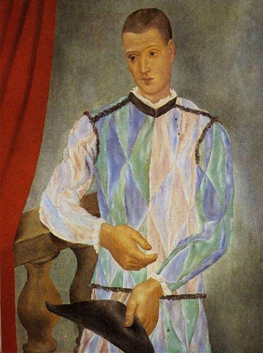 Pablo Picasso - Arlequín, Museo Picasso de Barcelona, 1917.