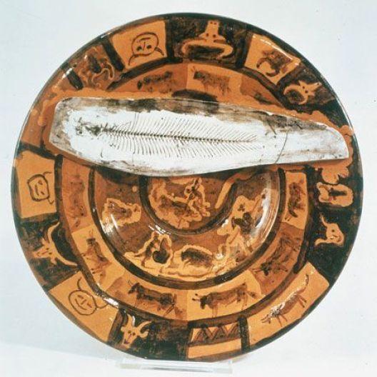 Pablo Picasso - Fuente española. Escena de corrida con pescado, Museo Picasso de Barcelona, 1957.