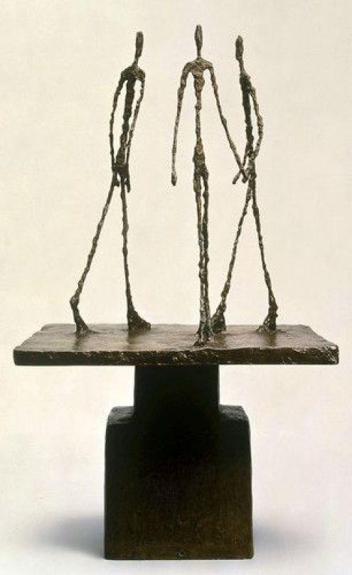 Tres hombres que caminan, 1949. Foundation Marguerite et Aimé Maeght.
