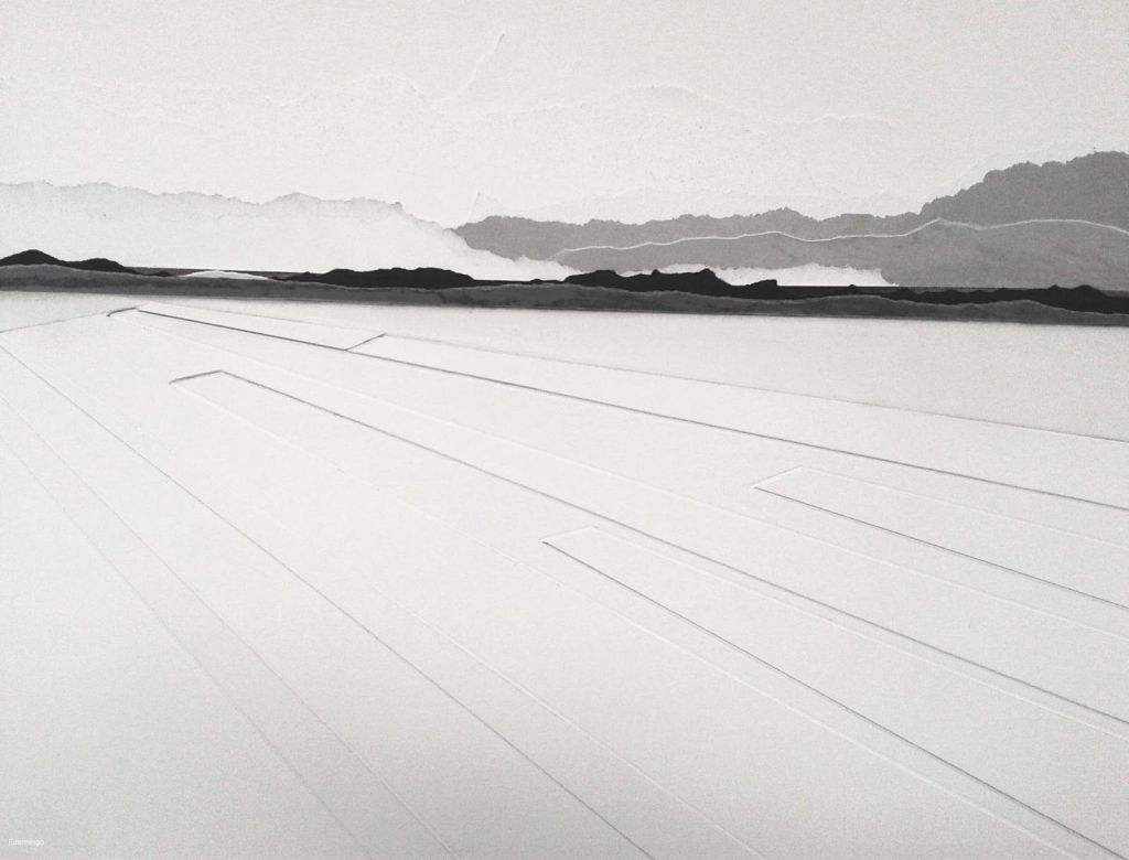Blanco y negro (Collage, 50x40 cm.)