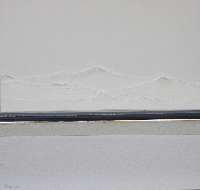 Entorno en blanco (Collage, 23x23 cm.)
