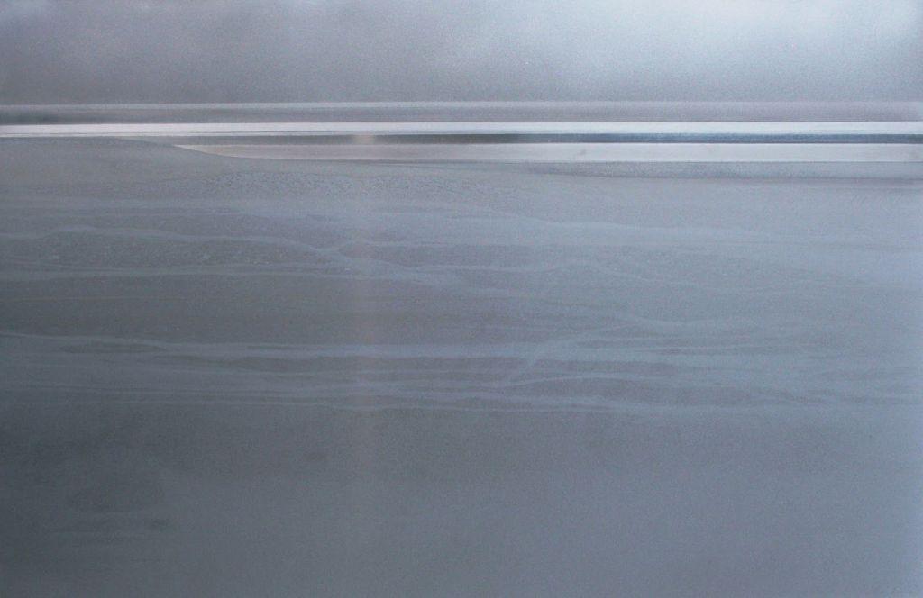 Línea del horizonte. (Técnica mixta sobre aluminio 112x80 cm.)