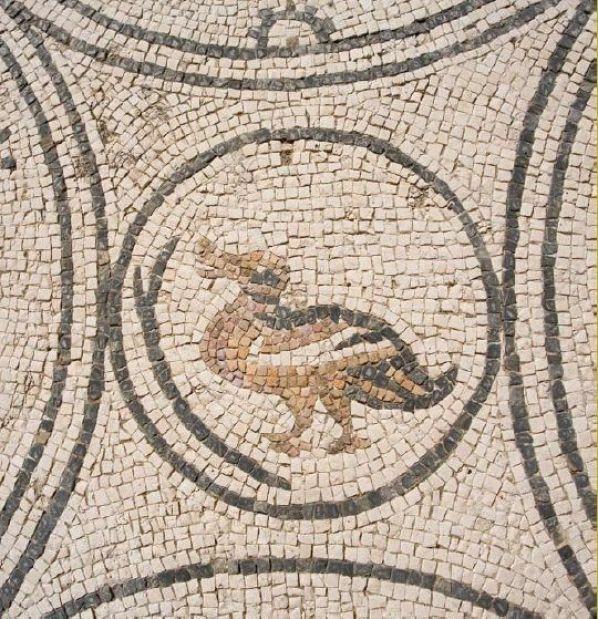 Mosaico, representación zoomorfa. Villa Romana de Río Verde (Marbella)