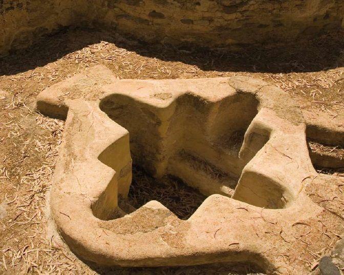 Pila bautismal, Basílica Paleocristiana Vega del Mar (Marbella)