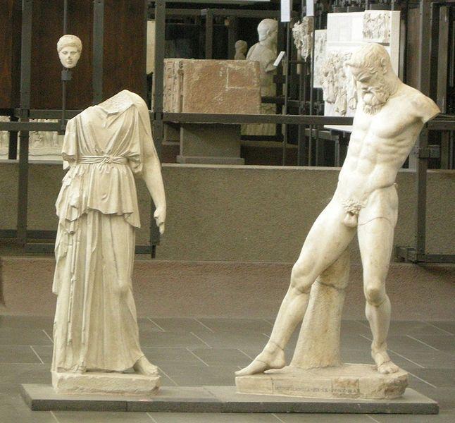 Mirón, Atenea y Marsias