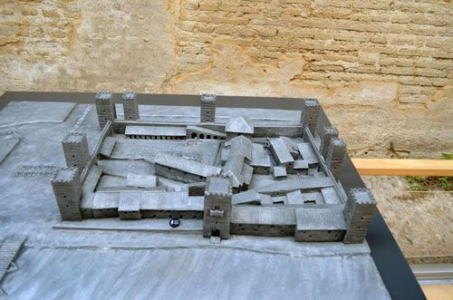 Maqueta del Castillo de San Jorge.
