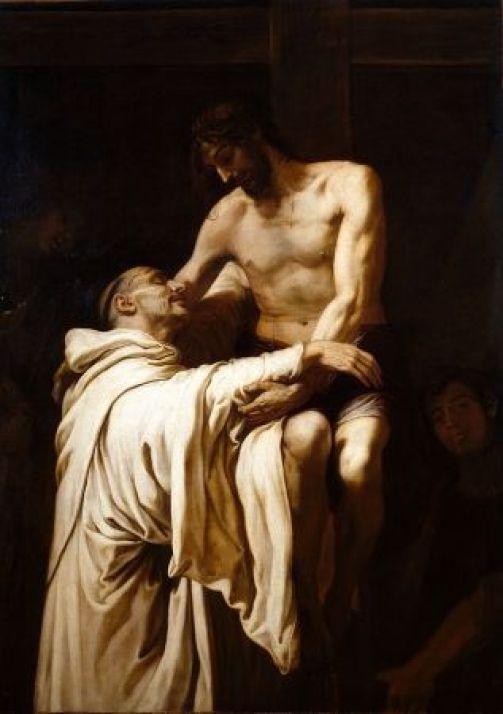 Francisco Ribalta, Cristo abrazando a San Bernardo, 1626, Museo del Prado